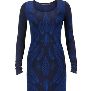 Supertrash navy blue long sleeve dress